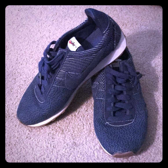 Nike Shoes - Vintage denim Nike's